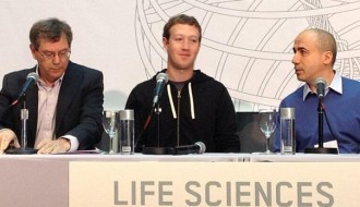 Image of Mark Zuckerberg And Sergey Brin Discuss Collaboration On Life Sciences Award - Forbes